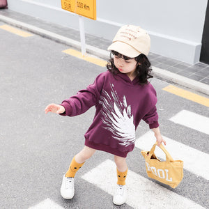 Fashion Korean girls print sweater dress - shopbabyitems