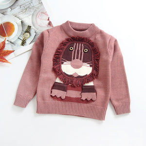 A cartoon lion knit sweater - shopbabyitems
