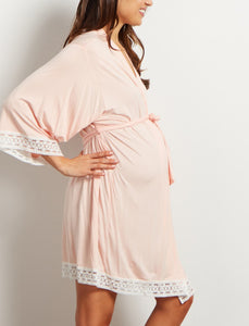 Pure color maternity dress - shopbabyitems
