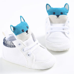 Lovely Fox Soft Sole Newborn Baby Boy  Girl Shoes For 0-18 Months - shopbabyitems