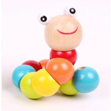 Load image into Gallery viewer, Baby Toys Changed Color Twisting Worm Baby Toy Train Baby Fingers Flexibility - shopbabyitems