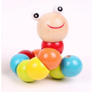 Baby Toys Changed Color Twisting Worm Baby Toy Train Baby Fingers Flexibility - shopbabyitems
