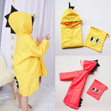 Load image into Gallery viewer, Kids Children Pupil Cute Dinosaur Waterproof Lightweight Jacket Hooded Raincoat - shopbabyitems