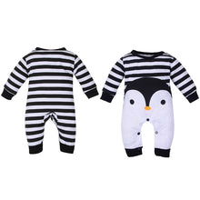 Load image into Gallery viewer, Fashion Infant Baby Boy Girl Penguin Print Long Sleeve Romper Jumpsuit Warm Gift - shopbabyitems