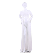 Load image into Gallery viewer, Women Split Front Cotton Off the Shoulder Long Sleeve Maternity Gown Maxi Dress - shopbabyitems