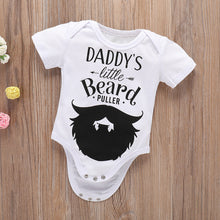 Load image into Gallery viewer, Lovely Letters Beard Short Sleeve Infant Baby Boys Cotton Soft Romper Jumpsuit - shopbabyitems