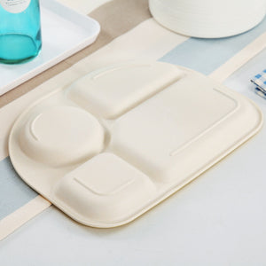 5pcs/set Baby Dinnerware Bamboo Fiber Children Tableware Set - shopbabyitems