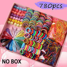 Load image into Gallery viewer, 1Set Girls Cute Elastic Hair Bands Hairpins Flower Hair Claws Hair Clip Rubber Band Ponytail Holder - shopbabyitems