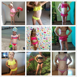 2~14Years Kids Beach Wear New  Girls Swimwear Lovely Swimming Suits - shopbabyitems