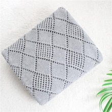 Load image into Gallery viewer, 2 layers reversible super soft Cotton knitted blue star Baby Blanket - shopbabyitems