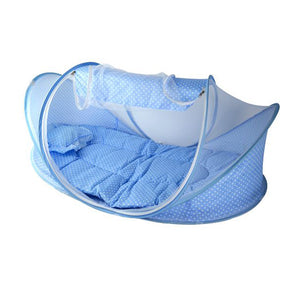 0-3Years Baby Bed Portable Foldable Baby Crib With Netting Newborn Sleep Bed Travel - shopbabyitems