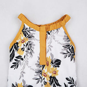 Fashion Baby Girls Clothes Baby Girls Floral Sleeveless Summer Jumpsuit Romper Clothes Outfits Set - shopbabyitems