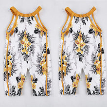 Load image into Gallery viewer, Fashion Baby Girls Clothes Baby Girls Floral Sleeveless Summer Jumpsuit Romper Clothes Outfits Set - shopbabyitems