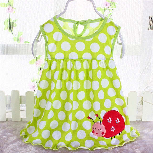 Summer Baby Dress New Girls Fashion Infantile Dresses Cotton Children's Clothes Flower Style Kids Clothing Princess Dress - shopbabyitems