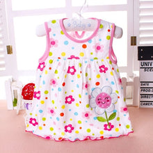 Load image into Gallery viewer, Summer Baby Dress New Girls Fashion Infantile Dresses Cotton Children's Clothes Flower Style Kids Clothing Princess Dress - shopbabyitems