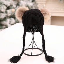 Load image into Gallery viewer, Baby Accessories Fashion Kids Baby Boy Girl Winter Warm Beanie Double Fur Pom - shopbabyitems