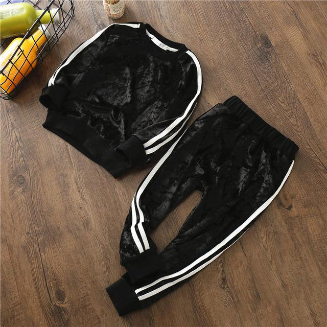 Baby Boys Clothing Sets Kids Girls Tracksuits Sport Suit Fleece Jacket Spring Autumn Clothes - shopbabyitems