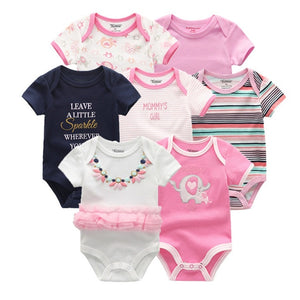 Baby Romper 7PCS/Lot Cotton Unisex Baby Girl Clothes 0-12M Newbron - shopbabyitems