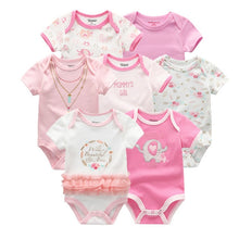 Load image into Gallery viewer, Baby Romper 7PCS/Lot Cotton Unisex Baby Girl Clothes 0-12M Newbron - shopbabyitems
