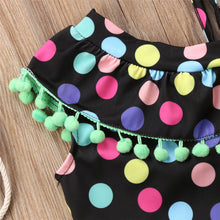 Load image into Gallery viewer, Brand New Toddler Infant Child Kid Baby Girls Colorful Dots Tassel Bikini Set Swimsuit Swimwear Bathing Swimsuit Tassel Set - shopbabyitems