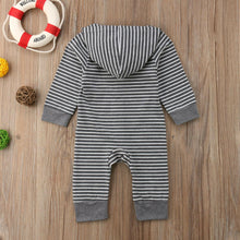 Load image into Gallery viewer, Children Spring Autumn Clothing Baby Kids Boys Girls Infant Hooded Solid Romper Jumpsuit - shopbabyitems