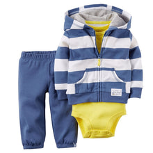 Load image into Gallery viewer, Baby Boy Rompers Autumn Warm Fleece Clothing Set - shopbabyitems