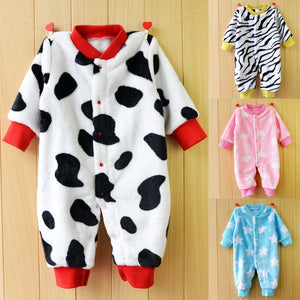 Baby Boy Rompers Autumn Warm Fleece Clothing Set - shopbabyitems