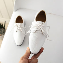 Load image into Gallery viewer, Kids Shoes Leather Shoes Soft Hand Feeling Children Infant Kids Baby Boys British Style Student Perform Casual Shoes - shopbabyitems