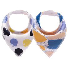 Load image into Gallery viewer, 2pcs/lot Baby Bibs Feeding Burp Cloth Breastplate Fashionable Bandana Bibs Scarf - shopbabyitems