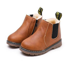 Load image into Gallery viewer, Leather Waterproof Leather Boots Warm Kids Snow Boots Girls Boys Rubber Boots Fashion Sneakers - shopbabyitems