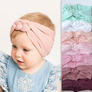 2019 New Braided Nylon Headbands Kids Girls Children Twisted Top - shopbabyitems