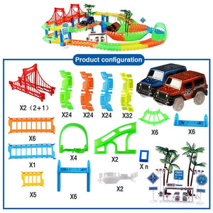 Railway Magical Racing Track Play Set Educational DIY Bend Flexible Race Track - shopbabyitems