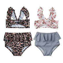 Load image into Gallery viewer, Summer Cute Baby Toddler Baby Girl Beach Flower Leopard Swimwear - shopbabyitems