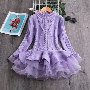 Long Sleeve Children Clothes Kids Dresses For Girls New Year Clothing - shopbabyitems