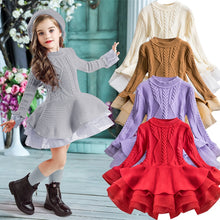 Load image into Gallery viewer, Long Sleeve Children Clothes Kids Dresses For Girls New Year Clothing - shopbabyitems