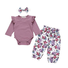 Load image into Gallery viewer, Baby Girls Outfits Clothes Romper Bodysuit+Flower Printed Shorts Set - shopbabyitems