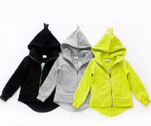 Load image into Gallery viewer, Hoodies Children 3 Color Dinosaur Animal Cartoon Hooded Sweatshirts - shopbabyitems