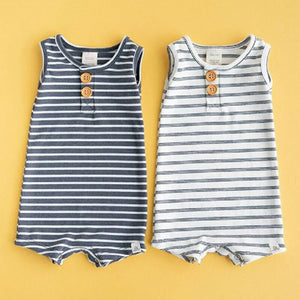 Baby Romper Newborn Baby Clothes Boys Girls Striped Sleeveless Rompers Summer Jumpsuit Outfit - shopbabyitems
