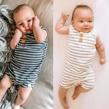 Load image into Gallery viewer, Baby Romper Newborn Baby Clothes Boys Girls Striped Sleeveless Rompers Summer Jumpsuit Outfit - shopbabyitems