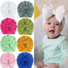 Load image into Gallery viewer, Baby Stuff Accessories Baby Girl Hat With Bow Knot Infant Beanie - shopbabyitems