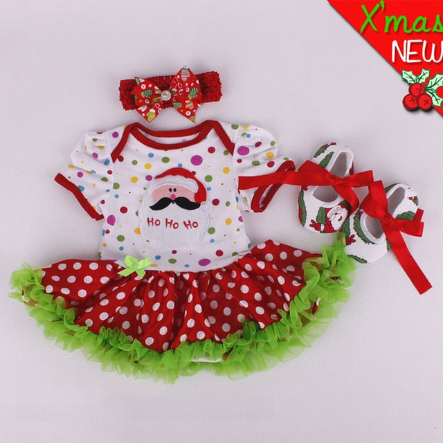 2020 Hot Sale Fashion Christmas Infant Girl Rompers Dress Baby Girls Clothes Sets - shopbabyitems