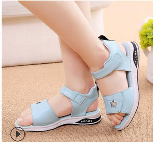 2020 NEW girls summer sandals children's flats shoes girl princess little girl over the children shoes size 27-37 - shopbabyitems