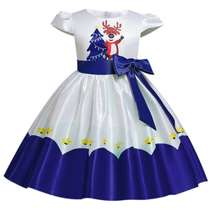 2020 New Christmas dress for girls flower dress flannel princess wedding dress children's day catwalk host fluffy dress - shopbabyitems