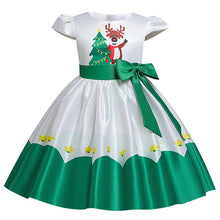 Load image into Gallery viewer, 2020 New Christmas dress for girls flower dress flannel princess wedding dress children's day catwalk host fluffy dress - shopbabyitems