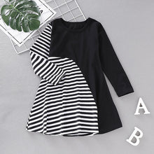 Load image into Gallery viewer, New Cotton Girls Dresses Striped Casual Summer Princess Dress Brand Baby Girls Clothes Long Sleeve Tunic Dresses for Kid - shopbabyitems