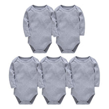 Load image into Gallery viewer, Solid White Baby Clothes Long Sleeve Cotton Baby Girls Boys Bodysuit Newborn body bebe 0-24 - shopbabyitems
