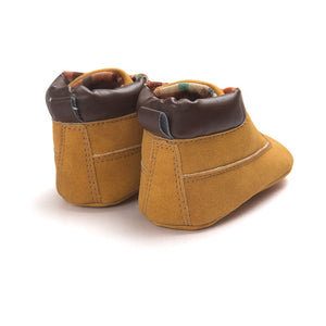 Spring / Autumn Infant Baby Boy Soft Sole PU Leather First Walkers Crib Shoes 0-18 Months - shopbabyitems