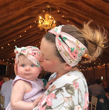 Load image into Gallery viewer, Headbands Set Flower Bowknot Newborn Turban Cross-tied Mommy Headbands Set - shopbabyitems