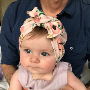 Headbands Set Flower Bowknot Newborn Turban Cross-tied Mommy Headbands Set - shopbabyitems