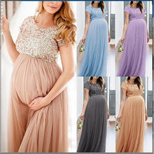 Load image into Gallery viewer, Summer Maternity Dresses For Photo Shoot 5 Colors Chiffon Solid Elegant Pregnancy Dress - shopbabyitems